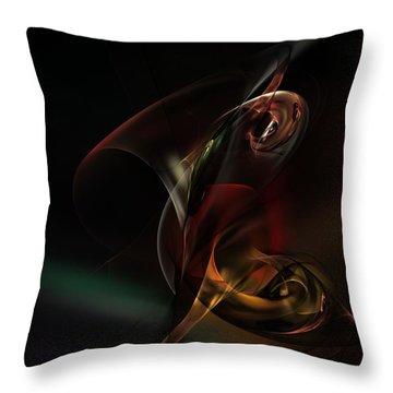 Symphonic Overtones Throw Pillow by David Lane