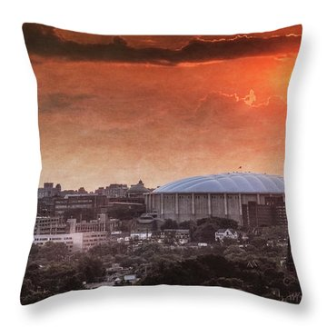 Syracuse Sunrise Over The Dome Throw Pillow by Everet Regal