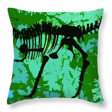 T. Rex Throw Pillow by David Lee Thompson