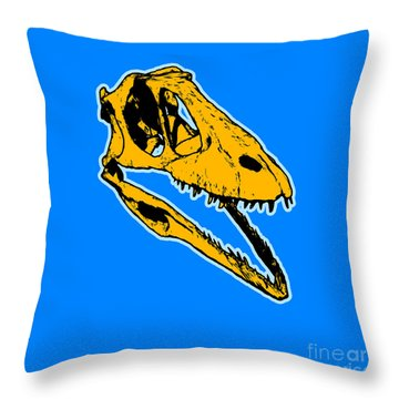 T-rex Graphic Throw Pillow by Pixel  Chimp
