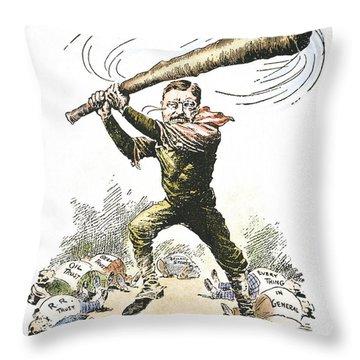 T. Roosevelt Cartoon, 1904 Throw Pillow by Granger