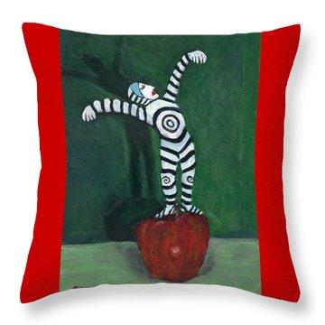 Ta-dah Throw Pillow by Dennis Tawes