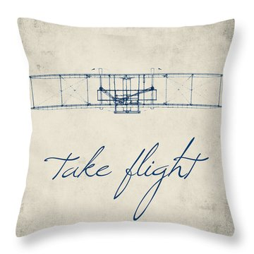 Take Flight Throw Pillow by Brandi Fitzgerald