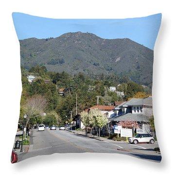 Tamalpais From Mill Valley Throw Pillow by Ben Upham