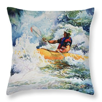 Taming Of The Chute Throw Pillow by Hanne Lore Koehler