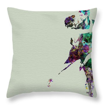 Tango Throw Pillow by Naxart Studio
