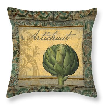 Tavolo, Italian Table, Artichoke Throw Pillow by Mindy Sommers