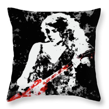 Taylor Swift 90c Throw Pillow by Brian Reaves