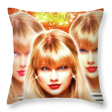 Taylor Swift - Beautiful Vision Throw Pillow by Robert Radmore