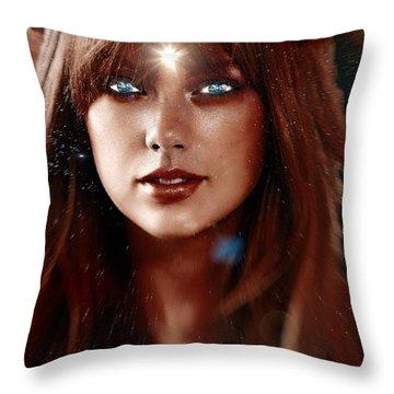 Taylor Swift - Goddess Throw Pillow by Robert Radmore
