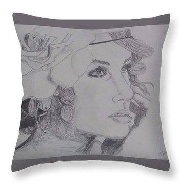 Taylor Swift Throw Pillow by Tanmaya Chugh