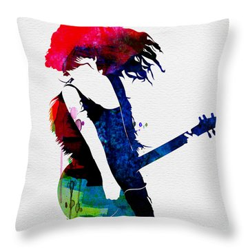 Taylor Watercolor Throw Pillow by Naxart Studio