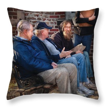 Teacher - The Scholars Throw Pillow by Mike Savad