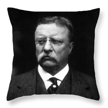 Teddy Roosevelt Throw Pillow by War Is Hell Store