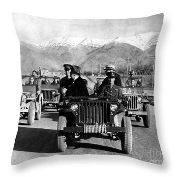 Tehran Conference, 1943 Throw Pillow by Granger