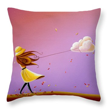 Tempestuous Throw Pillow by Cindy Thornton