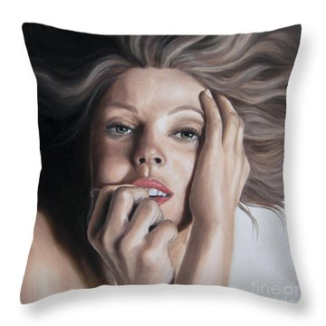 Tempting Throw Pillow by Jindra Noewi