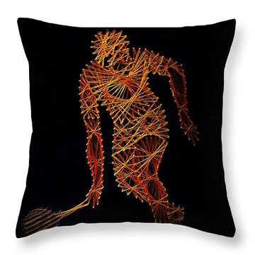 Tennis Throw Pillow by David Dehner