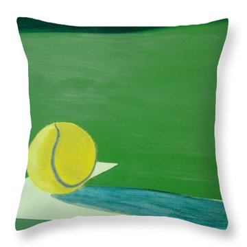 Tennis Reflections Throw Pillow by Ken Pursley