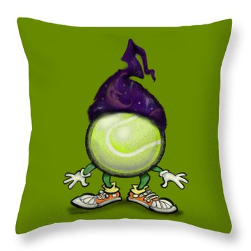 Tennis Wiz Throw Pillow by Kevin Middleton