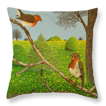 Territorial Rights Throw Pillow by Pat Scott
