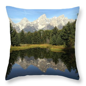 Teton 6 Throw Pillow by Marty Koch