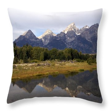Teton 7 Throw Pillow by Marty Koch