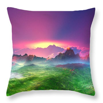 Texas  Country Digital Painting Throw Pillow by Heinz G Mielke