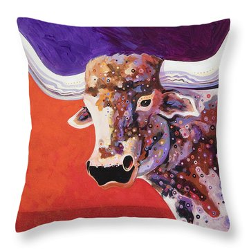 Texas Longhorn Throw Pillow by Bob Coonts