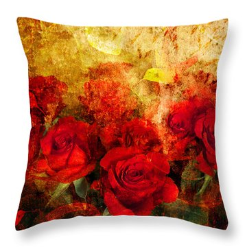 Texture Roses Throw Pillow by Svetlana Sewell