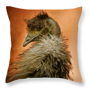 That Shy Come-hither Stare Throw Pillow by Lois Bryan