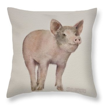 That's Some Pig Throw Pillow by Teresa Silvestri