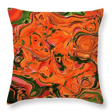 The Abstract Days Of Autumn Throw Pillow by Andee Design