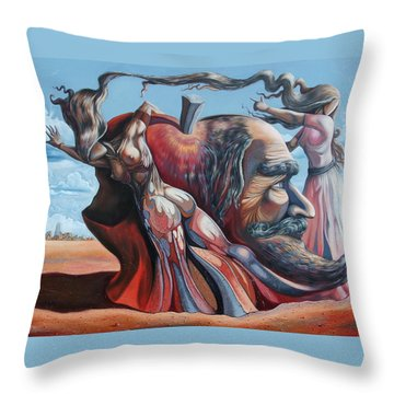 The Adam-eve Delusion Throw Pillow by Darwin Leon