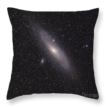The Andromeda Galaxy Throw Pillow by Phillip Jones