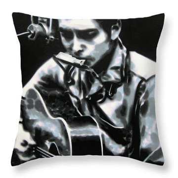 The Answer My Friend Is Blowin In The Wind Throw Pillow by Luis Ludzska