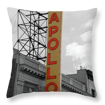 The Apollo In Harlem Throw Pillow by Danny Thomas
