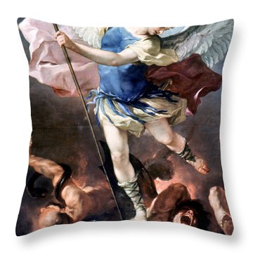 The Archangel Michael Throw Pillow by Granger