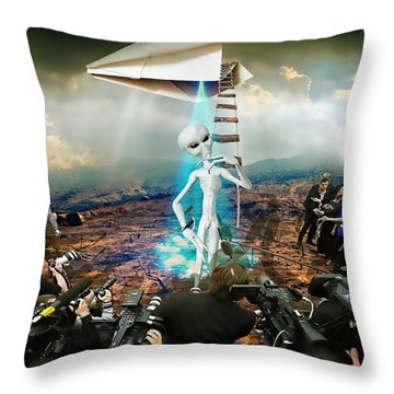 The Arrival Throw Pillow by Marian Voicu