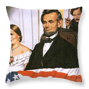 The Assassination Of Abraham Lincoln Throw Pillow by John Keay