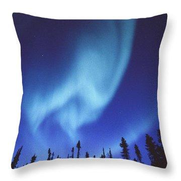The Aurora Borealis Creates Fantastic Throw Pillow by Paul Nicklen