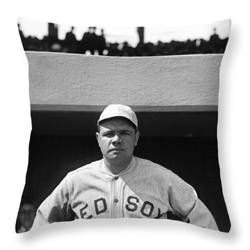 The Babe - Red Sox Throw Pillow by International  Images