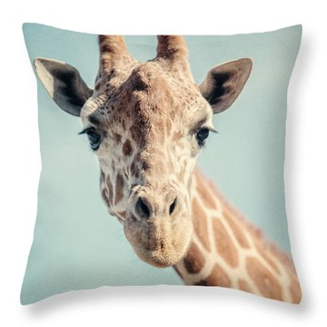 The Baby Giraffe Throw Pillow by Lisa Russo