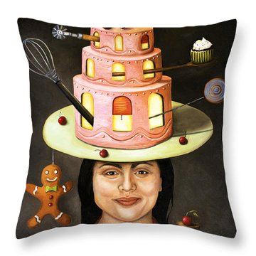The Baker Throw Pillow by Leah Saulnier The Painting Maniac
