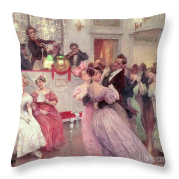 The Ball Throw Pillow by Charles Wilda