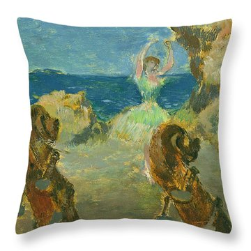 The Ballet Dancer Throw Pillow by Edgar Degas