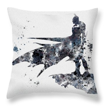 The Bat Throw Pillow by Rebecca Jenkins