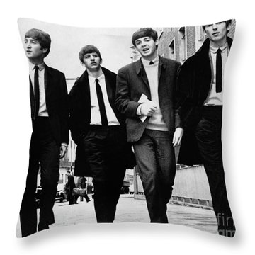 The Beatles Throw Pillow by Granger