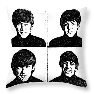 The Beatles No.13 Throw Pillow by Caio Caldas