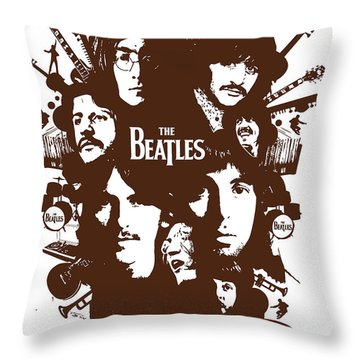 The Beatles No.15 Throw Pillow by Caio Caldas